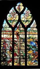 Vivid contemporary stained glass window - Église Saint-Gervais-Saint-Protais, Paris (Monceau) Tags: paris window contemporary vivid stainedglass églisesaintgervaissaintprotais