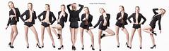 V.O.G.U.E (ZanderVision) Tags: lighting black pose studio model legs vogue blonde heels conceptual moves stilettos filmstrip repetitive