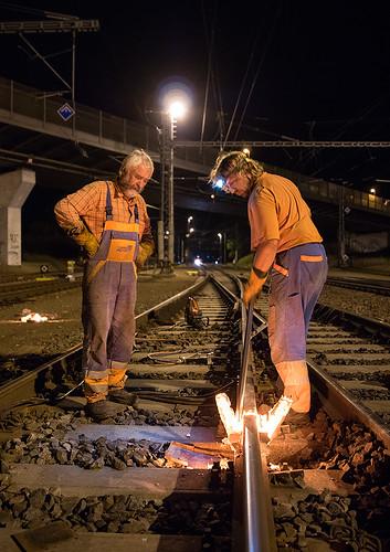 03.09.2015, thermite welding 03, Zábřeh na Moravě