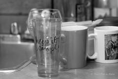 Keep It Simple.... (Sous l'Oeil de Sylvie) Tags: blackandwhite kitchen monochrome cuisine glasses noiretblanc pentax sale january cups vaisselle verres tamron90mm ks2 quotidien évier tasses 2016 àlaver sousloeildesylvie