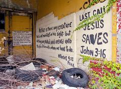 Last Call (elsuperbob) Tags: abandoned mamiya church overgrown kodak michigan empty detroit forgotten m645 ektar100