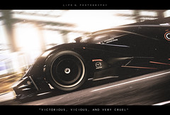 Victorious, Vicious, and Very Cruel (lifegphotos) Tags: sunset motion blur lights spain europe videogames future mazda gt6 granturismo ps3