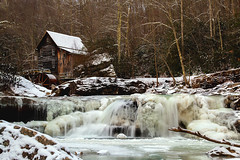 (Gene1138) Tags: snow canon waterfall wv westvirginia gristmill babcockstatepark fayettevillewestvirginia canon70d