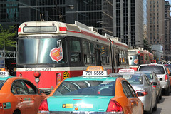 Caught in Traffic (craigsanders429) Tags: toronto traffic cities urbanscenes streetcars torontostreetcars