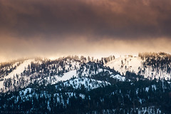 Warming up the mountains. (mnlphotography) Tags: travel sunset lake snow mountains nature clouds canon landscape adventure 7d bigbear bigbearlake 7dmarkii 7dmark2