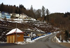 thaw in the northern Black Forest (BZK2011) Tags: street schnee houses winter snow canon powershot hang schwarzwald blackforest thaw huser tauwetter badpeterstalgriesbach nordschwarzwald g1x steilestrasen