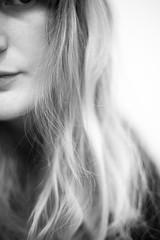 Day 332, Year 8. (evilibby) Tags: portrait blackandwhite bw blackwhite messyhair libby 365 halfportrait 365days 3658 365days8