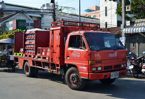Coca Cola Isuzu Truck - Hua Hin Thailand