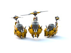 Attatech Autogyro (forrest_john) Tags: flying lego machine vessel steam fantasy legos airship rotor steampunk moc autogyro gyrocopter