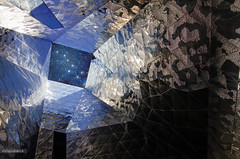 SEVEN | Stars (Crosshatchs) Tags: barcelona city travel blue sky museum architecture night composition silver dark stars spain triangle heaven pattern shine pov interior forum 7 exhibition adventure together seven inside constellation bigdipper greatbear opentosky diagonalzero museublau