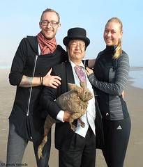 Dr. Takeshi Yamada and Seara (Coney Island Sea Rabbit) at the winter swimming event by the Coney Island Polar Bear Club at the Coney Island Beach in Brooklyn, New York on January 10 (Sun), 2015.  mermaid and merman. 20160110Sun DSCN3335=2020pC1 (searabbits23) Tags: winter ny newyork sexy celebrity art beach fashion animal brooklyn asian coneyisland japanese star yahoo costume tv google king artist dragon god cosplay manhattan wildlife famous gothic goth performance pop taxidermy cnn tuxedo bikini tophat unitednations playboy entertainer samurai genius donaldtrump mermaid amc mardigras salvadordali billclinton hillaryclinton billgates aol vangogh curiosities bing sideshow jeffkoons globalwarming takashimurakami pablopicasso steampunk damienhirst cryptozoology freakshow barackobama polarbearclub seara immortalized takeshiyamada museumofworldwonders roguetaxidermy searabbit ladygaga climategate