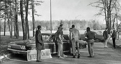 Students set roadblocks at Bowie State College: 1968 (washington_area_spark) Tags: plant black college campus bowie student state african rally poor protest maryland demonstration american but 1968 arrest physical equal conditions separate sitin occupy historically unequal studyin