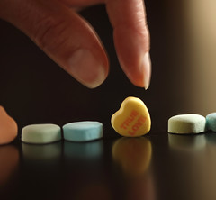 Valentine's Hearts (Symbiosis) Tags: macro love hearts candyhearts iloveyou sweethearts truelove valentinesday 100mmmacro canon5dmarkii