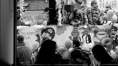 Carnival and coffee (Digital Adrian) Tags: street city carnival party blackandwhite bw white black netherlands coffee monochrome feast pen lens four photography prime beans nintendo wide mini mario olympus screen 45 e micro dxo bagels 18 169 thirds optics mft pm1 microft