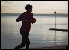 Jogger (exreuterman) Tags: sports thames river exercise running estuary promenade seafront jogging runner essex southend jogger