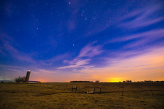 Farm @ Dusk (dwishard_55) Tags: night stars texas dusk farm silo dairy bustussle
