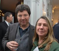 Diarmuid Johnson and his wife