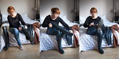 elle166 (Cuir Couple) Tags: leather mistress leder pant pantalon cuero cuir hosen maitresse