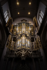 Golden sound (miguel_lorente) Tags: music church netherlands amsterdam metal gold organ instrument kerk pipeorgan westerkerk