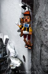 Sono solo marionette (Chiara Mangiaracina) Tags: street travel portrait italy color cute colors beautiful fun nikon funny italia sweet details streetphotography 85mm sicily pinocchio sicilia marionette erice nikond90