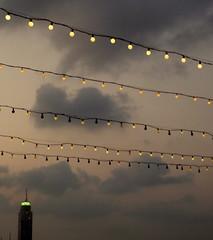 Bangkok Architecture (blafond) Tags: rooftop architecture thailand bangkok lightbulbs bulbs crepuscule thailande guirlandes