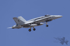 McDonnell Douglas F/A-18A 162431 (Newdawn images) Tags: plane airplane fighter aircraft aviation military nevada jet aeroplane hornet jetfighter redflag mcdonnelldouglas usmarinecorps militaryjet fa18a nellisairforcebase canonef100400mmf4556lisusm canoneos6d 162431 vfma115 ve206
