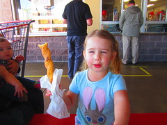 Isla Enjoying Her Churro (rudyg39) Tags: family costco isla churro