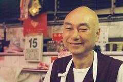 Mr. Che the Macanese Butcher (acha191) Tags: leica red portrait film 50mm march calendar market kodak 15 m butcher f2 macau portra 800 m2 acha 2016 collapsible summitar acha191 acha2016