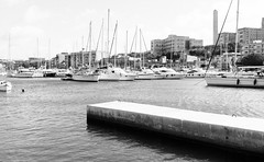 Msida's port (lorenzoviolone) Tags: blackandwhite bw monochrome blackwhite malta finepix fujifilm fav10 agfascala200 fav25 taxbiex mirrorless vsco vscofilm fujix100s x100s fujifilmx100s trip:malta=feb2016