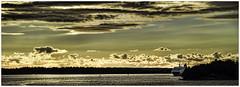 cruise at dawn (Ronnie Da) Tags: morning cruise sea clouds dawn sweden stockholm
