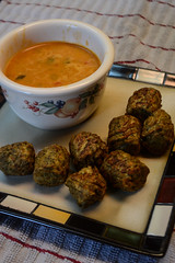 Thai Coconut Soup and Kale & Quinoa Bites (Vegan) (Vegan Butterfly) Tags: food hot lunch soup vegan yummy coconut balls tasty plate bowl curry delicious thai meal vegetarian quinoa yves bites kale