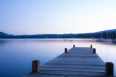 Blue Hour (MarkE_T) Tags: smcpentaxda1645mmf4edal pentaxk5 lakedistrict windermere lake longexposure nighttime bluehour water pier woodenpier jetty landscape sunset