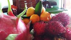Fruit bowl (Roving I) Tags: homes food fruit vietnam hospitality danang jackfruit lychee mandarins