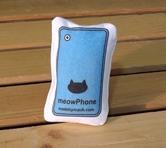 Cat Toy - meowPhone Blue (made by mauk) Tags: cat toys catnip spoonflower madebymauk