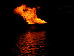 Easter fire on the water in the port of Neustadt (Ostseetroll) Tags: water reflections geotagged deutschland wasser nightshot deu schleswigholstein nachtaufnahme osterfeuer easterfire spiegelungen neustadtinholstein geo:lat=5410619079 geo:lon=1081023840
