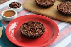 Tortinhas de Caramelo e Chocolate (Almanaque Culinrio) Tags: food recipe comida gastronomia culinria receita