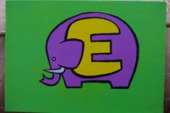E is for Elephant (Empress of Blandings) Tags: elephant green lines animals yellow painting acrylic purple graphic doodle elephants alphabet animaux elefant acrylicpaint elefante so eliffant  giwa  lphant elephanten slon norsu elevant elephanti  alphabetpainting  fl theillustratedalphabet