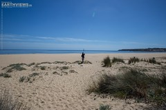 The Girl and the Beach 6823f (Stefan Beckhusen) Tags: travel woman sun color tourism beach portugal girl sand holidays europe sunny bluesky lagos explore photograph endless