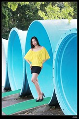 nEO_IMG_DP1U3238 (c0466art) Tags: blue light portrait color girl beautiful yellow canon pose action sweet outdoor gorgeous jenny pipe skirt short lovely charming elegant philippine 1dx c0466art