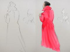 A Night at the Opera (Robin Hutton) Tags: red woman opera dress stages sing singer development robinhuttonart