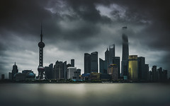 Shanghai.grim.1 (Jeremy Langley) Tags: china city morning storm tower clouds river dark dawn long exposure cityscape shanghai cloudy lee pearl oriental pudong bund jinmao thebund huangpu orientalpearltower shanghaitower leefilters bigstopper