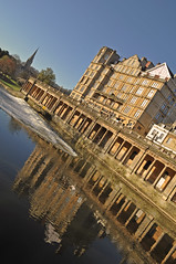 UK - Bath - Empire Hotel (Harshil.Shah) Tags: uk morning england reflection water architecture river hotel bath britain united great kingdom somerset empire gb georgian avon