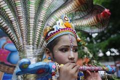 Janmashtami celebrated in Dhaka (Suvra Kanti Das) Tags: man festival child celebration holy human dhaka shiva krishna bangladesh janmashtami hundu