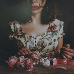 the leftovers (Ana Lusa Pinto [Luminous Photography]) Tags: light red party portrait woman selfportrait texture glass photoshop studio bottle emotion stripes ticket fair artificial ranunculus carnivale cocacola luminous luminousphotography luminouslu analusapinto analuisapinto