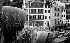 Riomaggiore Messages (bella_blue_star) Tags: italy mono message liguria cinqueterre riomaggiore