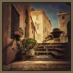 April in Castel Gandolfo. (odinvadim) Tags: travel italy painterly landscape spring artist textured iphoneart iphoneography globetravel iphoneonly snapseed mytravelgram editmaster painterlymobileart