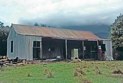 Yadboro House, Yadboro Flats, Morton National Park, NSW, March, 1965. (garratt3) Tags: aus australia budawangs bushwalking film kodachrome mortonnationalpark nsw rural takuma wilderness newsouthwales