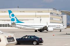 Boeing 737-8 MAX N8702L (jbp274) Tags: car airport automobile experimental airplanes boeing chrysler 737 sanbernardino sbd ksbd 737max