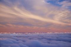 above the clouds / sunset (twurdemann) Tags: travel sunset sky newyork clouds airplane newjersey unitedstates windowseat newarklibertyinternationalairport porterairlines procontrast nikcolourefex detailextractor xf1855mm fujixt1 2016tripnewyork
