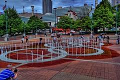 Fountain of Rings, Centennial Olympic Park, Atlanta, Georgia (BDM17) Tags: park atlanta brick wet water fountain ga georgia centennial downtown games spray rings olympic fulton